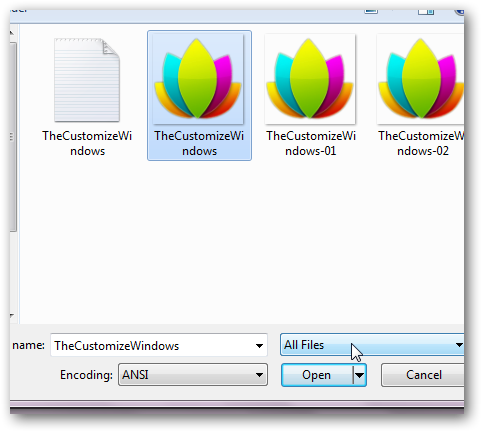 How to embed or hide text in normal picture files in Windows 7-5