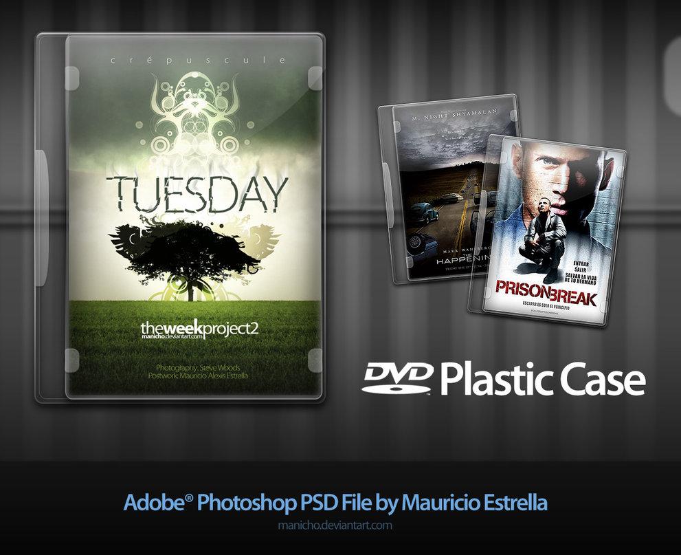 dvd plastic case psd file