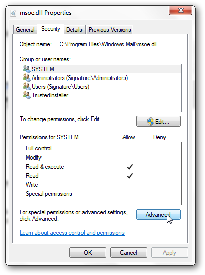 Get back Windows Mail in Windows 7 SP1-3