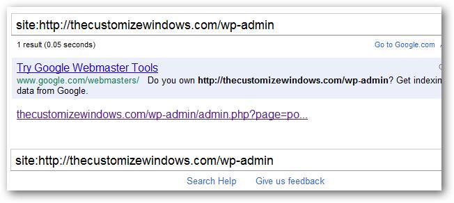Disallow crawler access to wp-admin folder
