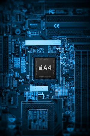 Intel Chip Set Wallpaper for iPhone