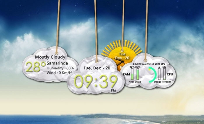 Cloud Tags Widget Pack for XWidget