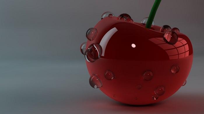 3D Rendered Cherry Wallpaper