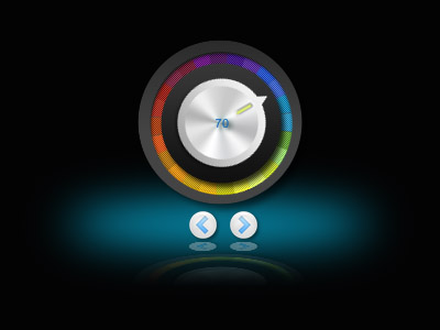 Metallic Volume Knob Widget