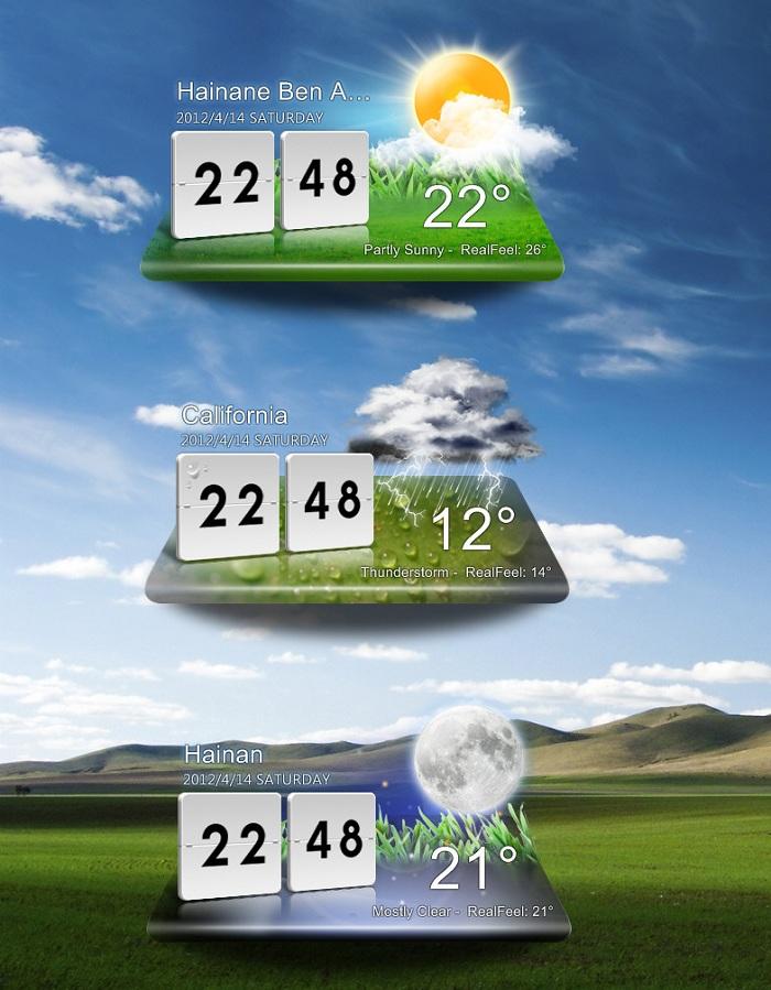 LG Optimus Desktop Weather Widget Reloaded