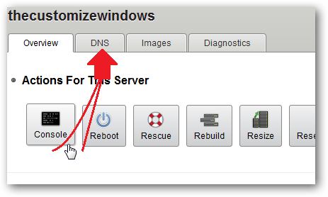 Creating DNS Record for Rackspace Cloud Servers-1
