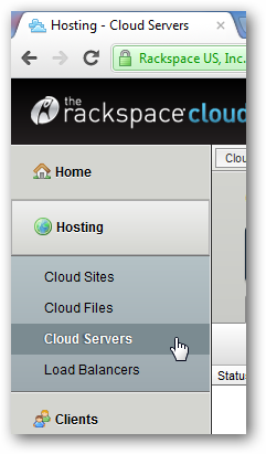 Creating DNS Record for Rackspace Cloud Servers