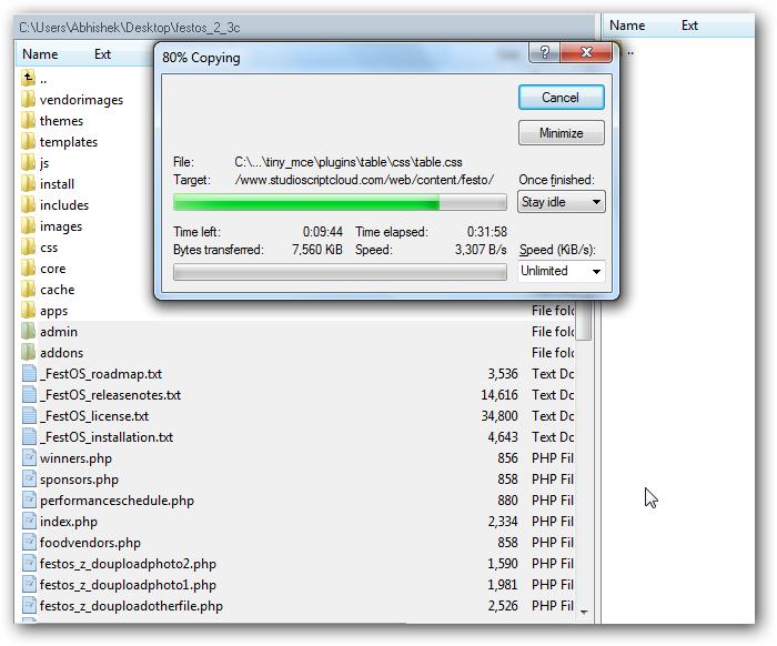 Installing FestOS on Rackspace Cloud Sites