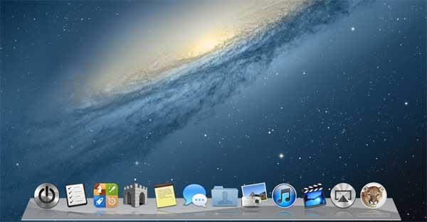 Mac Mountain Lion OS X Dock Widget for Windows