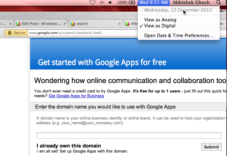 Free Google Apps Domain Name Email