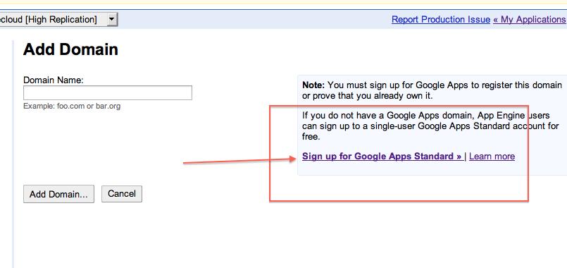Free Google Custom Domain Name