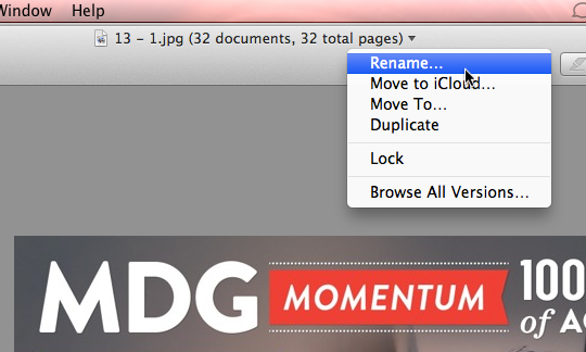 How to Rename a File or Folder in OS X