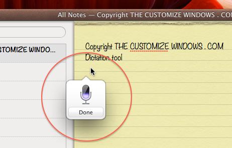 Dictation OS X Mac