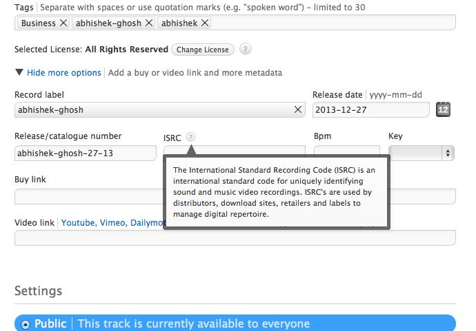 International Standard Recording Code-ISRC