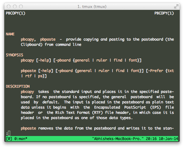 Copy and Paste to and from a Text file in Command Line in OS X