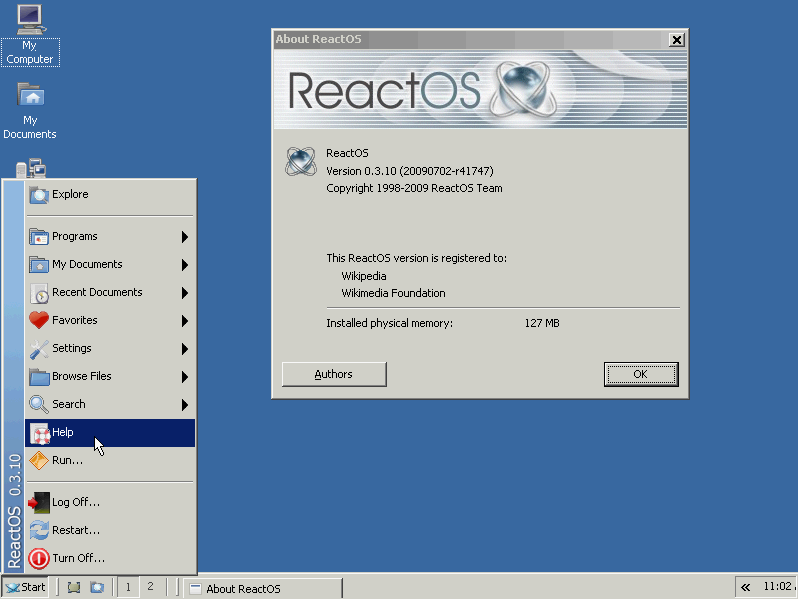 ReactOS on VirtualBox