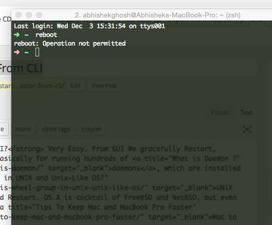 How To Restart, Shutdown Mac Faster From CLI