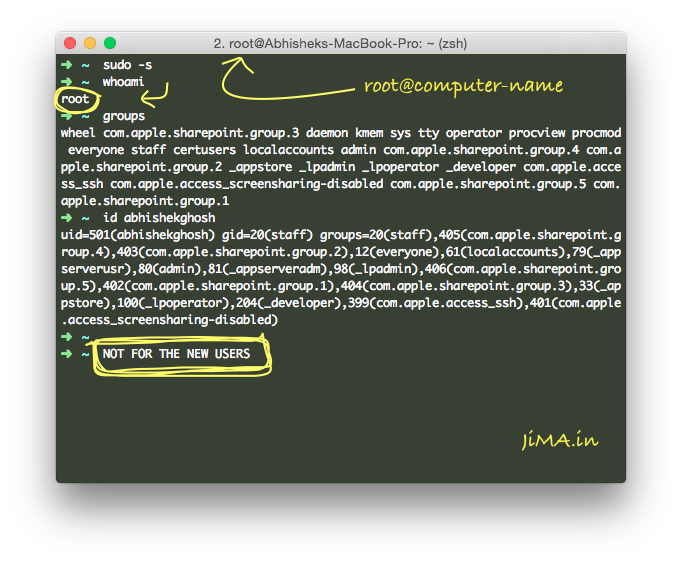 Work With root Username on OS X Terminal-iTerm2