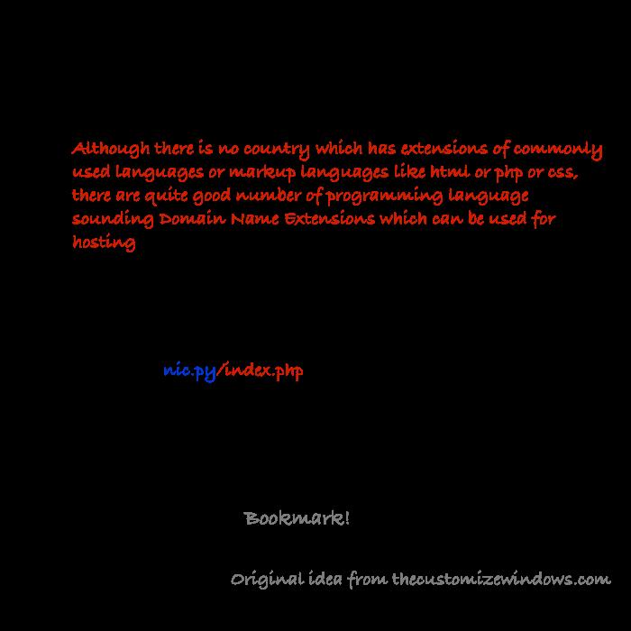 Programming Language Sounding Domain Name Extensions