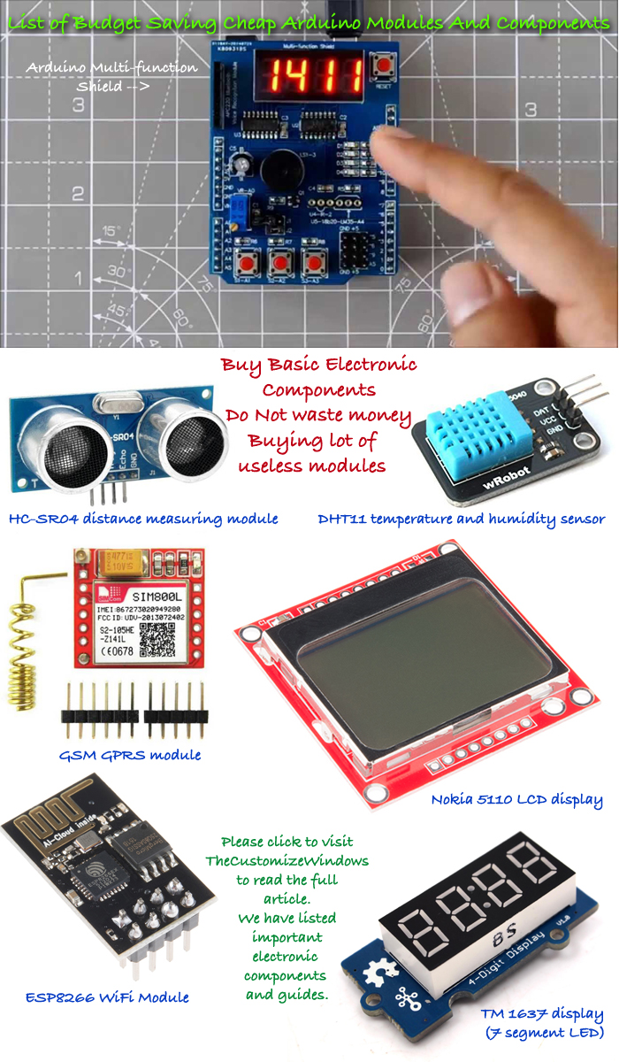 List-of-Budget-Saving-Cheap-Arduino-Modules-And-Components