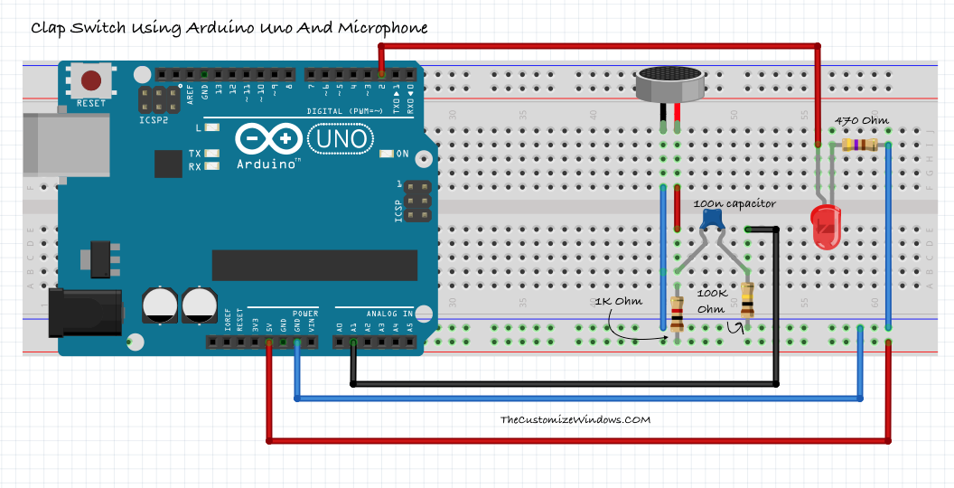 Clap Switch Using Arduino Uno And Microphone